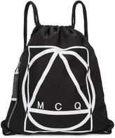 Mcq Alexander Mcqueen Black Logo-print Nylon Backpack