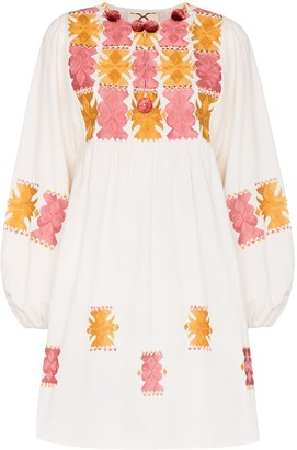 Figue Lucie embroidered mini dress