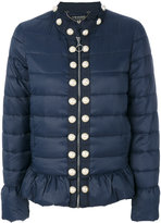 Twin-Set pearled trim puffer jacket - women - Polyamide/Polyester - 38