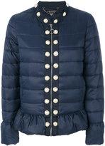Twin-Set pearled trim puffer jacket - women - Polyamide/Polyester - 38