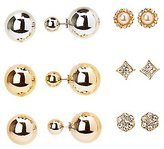 Charlotte Russe Stud & Double-Sided Earrings - 6 Pack