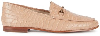 Sam Edelman Loraine crocodile-effect leather loafers