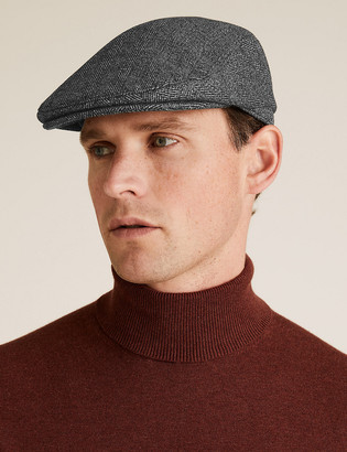 Marks and Spencer Herringbone Flat Cap with Thermowarmth
