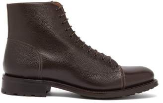 O'Keeffe's O'Keeffe Okeeffe - Algy Scout Grained Leather Lace Up Boots - Mens - Dark Brown