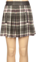 Full Tilt Faux Leather Trim Girls Skirt