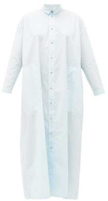 Toogood The Draughtsman Cotton Shirt Dress - Light Blue