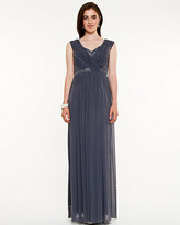 Le Château Embellished & Pleated Knit Gown