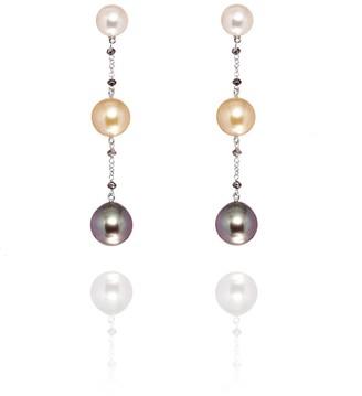 Savage & Rose Vigo Earrings 18K White Gold With Akoya, South Sea & Tahitian Pearls