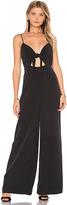 Mara Hoffman Tie Front Jumpsuit in Black