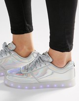 Wize & Ope Pop Silver Light Up Sole Sneakers