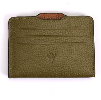 Hiva Atelier Double Card Holder Khaki & Brown
