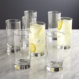 Crate & Barrel Boxed Highball Glasses, Set of 8