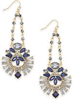 INC International Concepts Gold-Tone Multi-Crystal Swing Chandelier Earrings, Created for Macy's