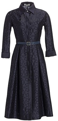 Teri Jon by Rickie Freeman Embroidered Shirtdress