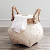 Pier 1 Imports Julianna White & Natural Wicker Basket