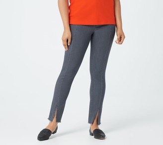 Isaac Mizrahi Live! TRUE DENIM Tall Ankle Jeans with Front Slit