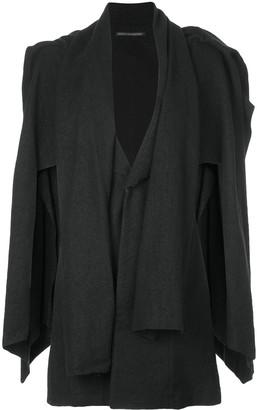 Yohji Yamamoto Asymmetric Layered Blazer