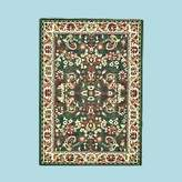 Unknown Rugs Green Polypropylene Izmar Sarouk Rug 5 Ft 3'' X 7 Ft. 3''