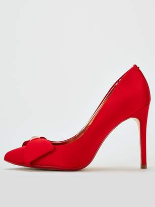 Ted Baker Asellys Bow Court Shoes - Red