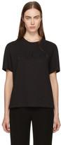 Emilio Pucci Black Rhinestone Logo T-Shirt