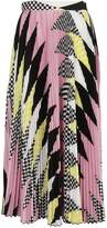 MSGM Printed Midi Skirt