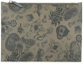 Etro top zip pouch - men - Cotton/Calf Leather/Polyester/PVC - One Size