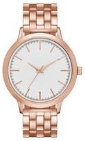 Merona Women's Five Link Bracelet Slim Watch Rose Gold