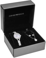 Emporio Armani Women's Stainless Steel Bracelet Watch with Bracelet and Earrings Box Set 28mm AR8038