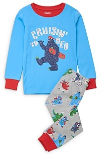 Hatley Boys' Monsters Cotton Pajamas - Little Kid, Big Kid