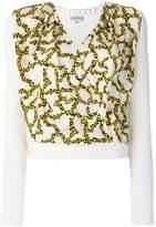 Carven link print envelope blouse