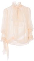 Amelia Toro Neck Tie Silk Blouse