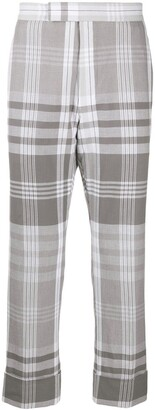 Thom Browne Plaid Cropped Trousers