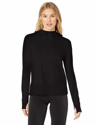 Amazon Essentials Women's Studio Terry Long-Sleeve Convertible Hood Shirt