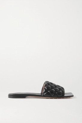 Bottega Veneta Quilted Leather Slides - Black
