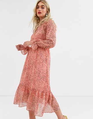 Y.A.S animal print midi dress