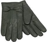 Moda Ms Barcelona Womens Winter Genuine Leather Assorted Colors Cold Weather Gloves with Bow