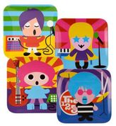 French Bull Rock Star Kids' Plates (Set of 4)