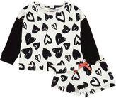 River Island Mini girls white heart print pajama set