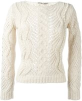 Ermanno Scervino cable knit pearled jumper