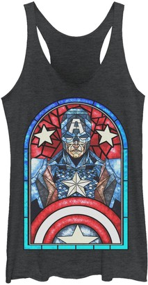 Licensed Character Juniors' Marvel Captain America Avengers Stained Glass Memorial Tank Top