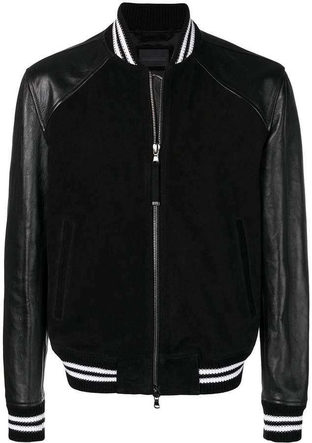 Diesel Black Gold panelled varsity jacket