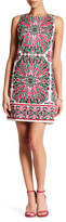 London Times Printed Shift Dress (Petite)