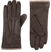 Barneys New York WOMEN'S LEATHER TOUCHSCREEN-COMPATIBLE GLOVES-BROWN SIZE NA