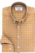 Thomas Pink Maxwell Check Slim Fit Button Cuff Shirt
