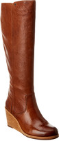 Frye Emma Wedge Leather Tall Boot