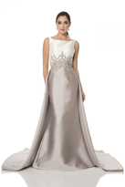 Terani Evening - Picturesque Embellished Bateau Neck Two-Tone Mermaid Gown 1611E0187A