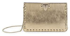 Valentino Women's Garavani Rockstud Metallic Leather Clutch