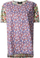 Anrealage floral print shortsleeved T-shirt