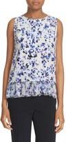 Kate Spade Women's Hydrangea Print Layered Silk Tank