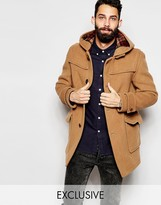 Gloverall Duffle Coat With Contrast Buttons Exclusive - Tan